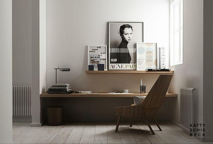 25 minimal home office designs daphne hansen for Office design 2015