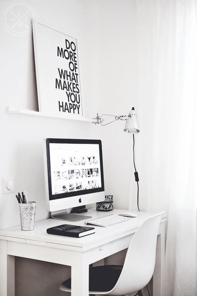 minimalist workspace design