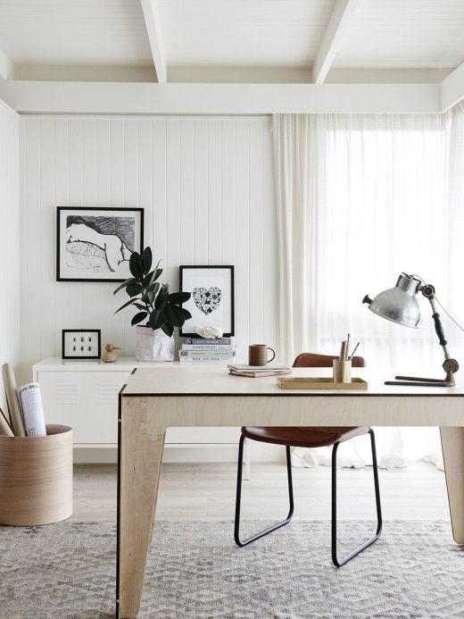 simple minimal office design inspiration