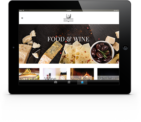 website food on iPad small